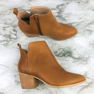 Sole Society Bowie Cognac Cow Leather Booties 6